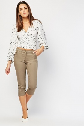 Crop Length Plain Chinos