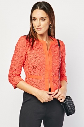 Structured Crochet Blazer