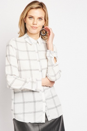 Window Pane Printed Shirt