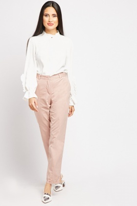 Casual Plain Chino Trousers