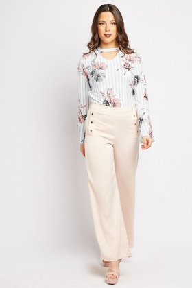 Silky Light Peach Trousers