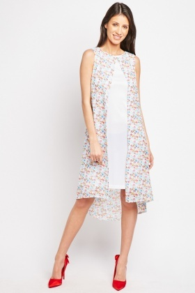 Floral Ditsy Print Shift Dress