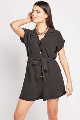 Twin Pocket Front Utility Playsuit