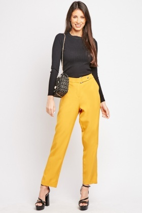Mustard Tapered Trousers