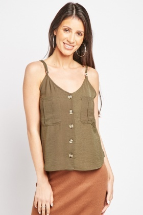 Twin Pocket Front Cami Top