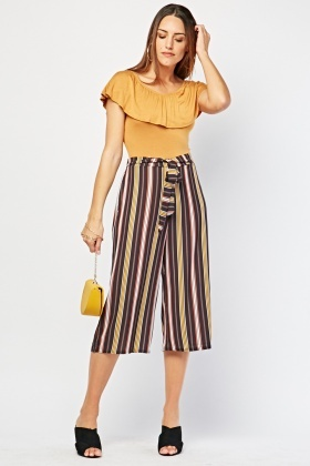Candy Stripe Crop Trousers