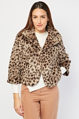 Cheetah Pattern Fleece Jacket