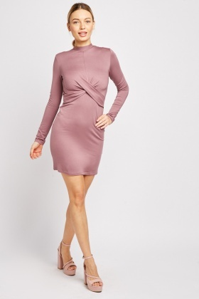 Twisted Front Bodycon Dress