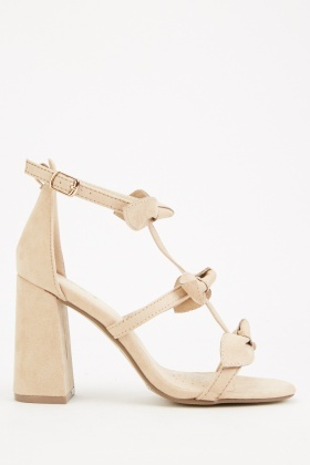 Bow Front Heeled Sandals