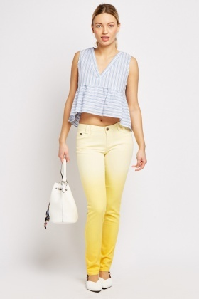 Ombre Effect Skinny Jeans