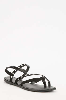 Pack Of 2 Star Studded Sandals