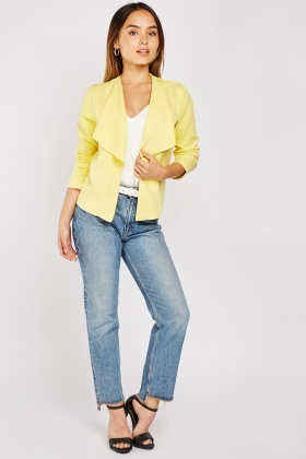 Waterfall Front Yellow Blazer