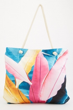Multi Printed Beach Bag
