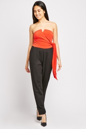 Tie Up Tapered Jumpsuit