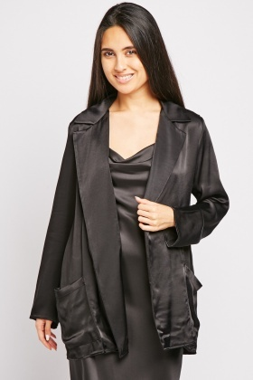 Sateen Black Blazer