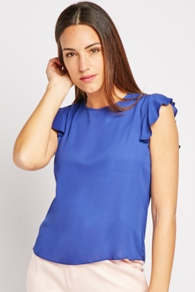 Tie Up Back Chiffon Top