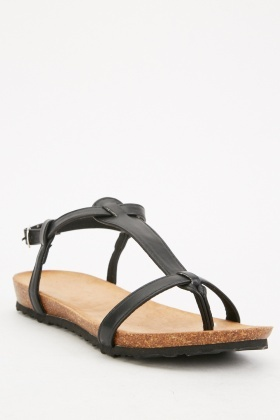 Open Toe Basic Sandals