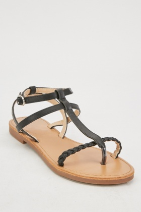 T-Strap Strappy Sandals