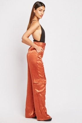 Straight Leg Silky Trousers