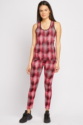 Illusion Print Sports Set