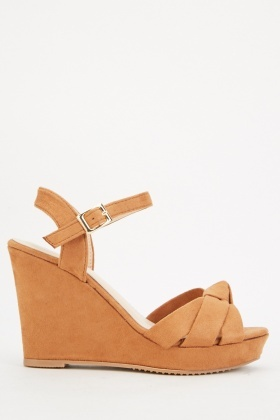 Wedge Suedette Sandals