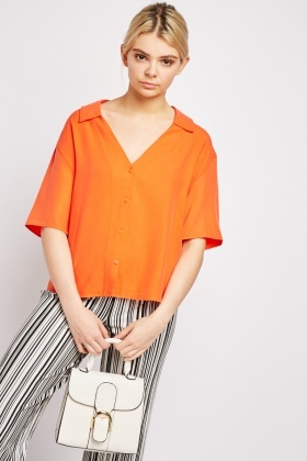 Collared Orange Blouse