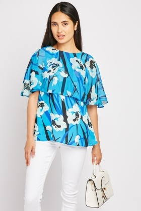 Large Floral Print Blouse