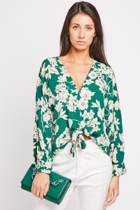 Floral Tie Up Blouse