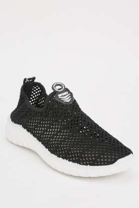 Men's Mesh Slip On Trainers