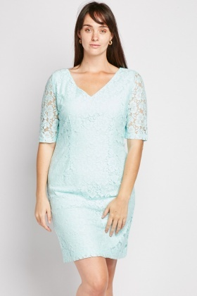 V-Neck Lace Dress
