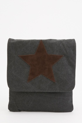Textured Star Pattern Shoulder Bag