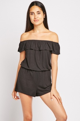 Ruffle Off Shoulder Playsuit