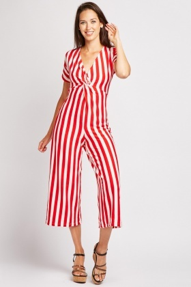 Two Tone Stripe Jumpsuit