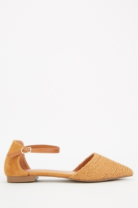 Suedette Court Sandals