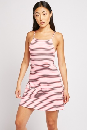 Striped Mini Skater Dress