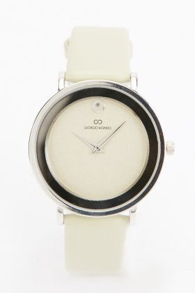 Faux Leather Basic Ladies Watch