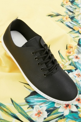 Textured Low Top Mens Trainers