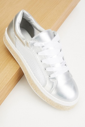 Perforated Lace Up Plimsolls