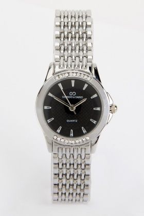 Chain Link Round Face Watch