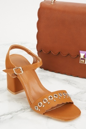 Eyelet Scallop Detail Sandals