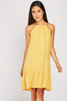 Ruffle Hem Tent Dress