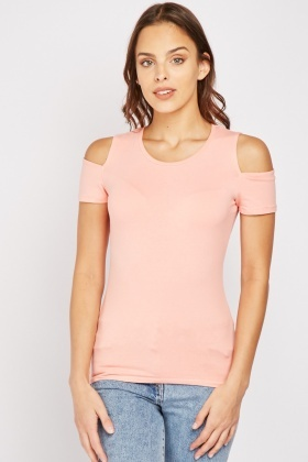 Pack Of 2 Cut Out Side Basic Tops