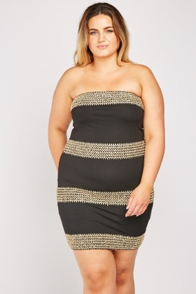 Rik Rak Trim Bandeau Dress