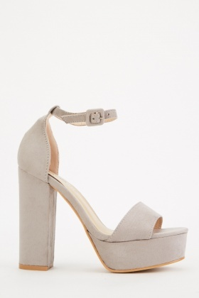 Suedette High Block Heels