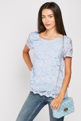 Short Sleeve Lace Top $6.40