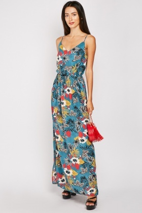 Floral Maxi Strappy Dress $6.40