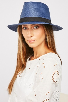 Contrast Band Summer Hat