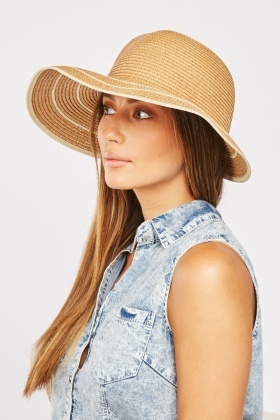 Bow Back Straw Cloche Hat