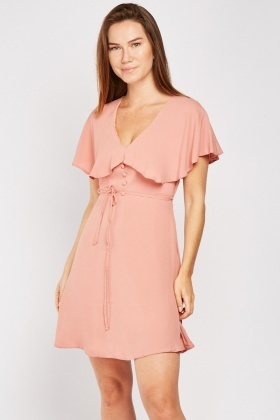 Frilly Overlay Tea Dress