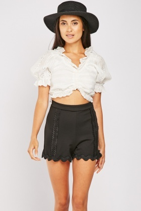 Rik-Rak Trim Shorts